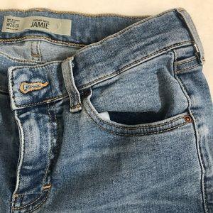 Topshop Jamie, High-rise skinny jeans.